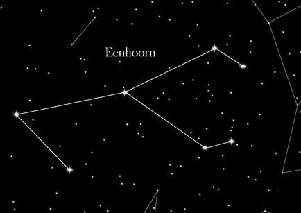 constelaltie eenhoorn