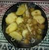 bord aardappel spruitjes en vis