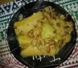 bord zoete aardappel zoete banaan kabeljauw