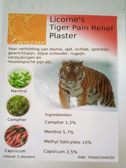 licorne's pain relief plaster 1